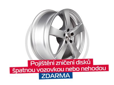 Pojištění zničení disků při nehodě nebo špatným stavem vozovky